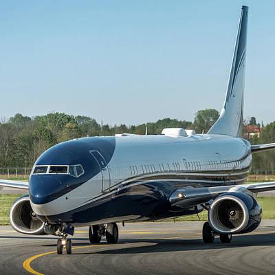Transportation Photograph - Boeing B737-900 Bbj Hz-atr by Roberto Chiartano