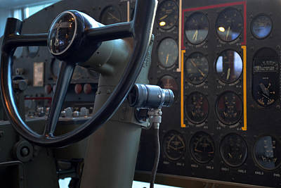 Photograph - Boeing Controls by Maggy Marsh
