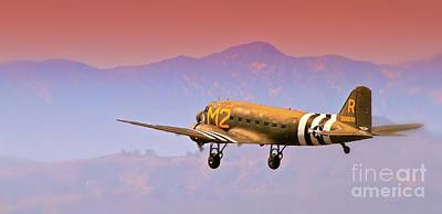 Boeing Douglas C-47 To Normandy June 6th 1944 Original by Gus McCrea