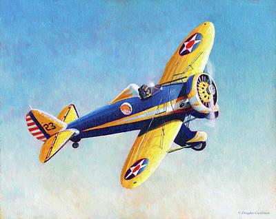 Painting - Boeing P-26 Peashooter by Douglas Castleman