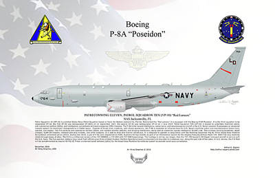 Digital Art - Boeing P-8a Poseidon Vp-10 by Arthur Eggers