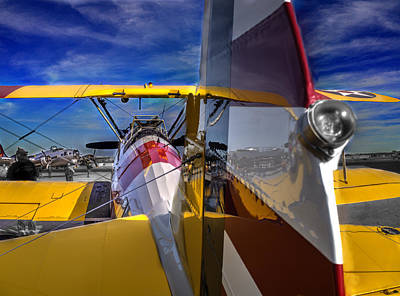 Boeing - Stearman Model 75 V3 Art Print by John Straton