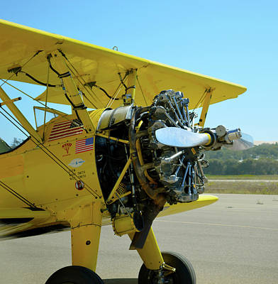 Photograph - Boeing Super Stearman Detail by Barbara Snyder