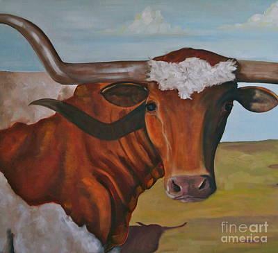 Bevo Art Painting - Boerne Boy by Amy Higgins
