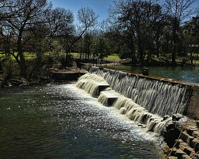 Photograph - Boerne Dam by Judy Vincent