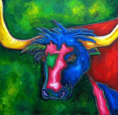Boerne Longhorn Art Print by Patti Schermerhorn