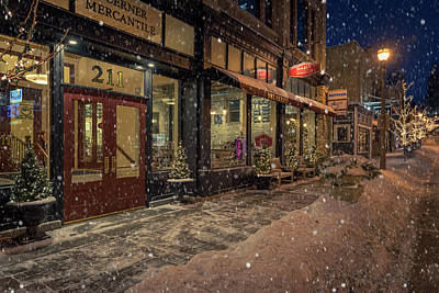 Photograph - Boerner Mercantile Christmas by James Meyer