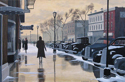 Painting - Boerner's Pharmacy by Dave Rheaume