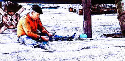 Digital Art - Boeten Van Een Net by Arie van Garderen