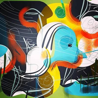 Digital Art - Bog Blues by Jason Nicholas