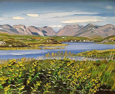 Painting - Bog Road Connemara Co Galway by Diana Shephard