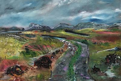 Painting - Bog Road, Donegal Ireland by Mary Feeney