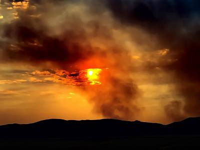 Photograph - Bogart Fire Sunset by Chris Tarpening