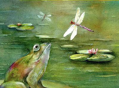 1920s Flapper Girl - Boggy Beauties, Dragonflies by Maureen Moore