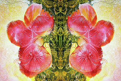 Digital Art - Bogomil Anniversary Flower - Digital by Otto Rapp