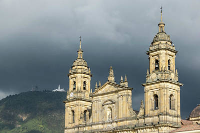 Photograph - Bogota Catedral And Cerro De Monserrate by Steven Richman