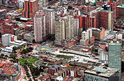 Photograph - Bogota Cityscape by John Rizzuto