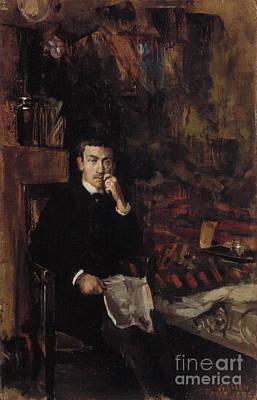 Painting - Boheme Portrait Of The Painter Adam Dornberger by Celestial Images