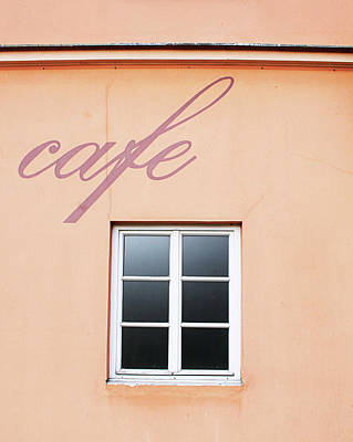 Czech Republic Photograph - Bohemian Cafe- By Linda Woods by Linda Woods