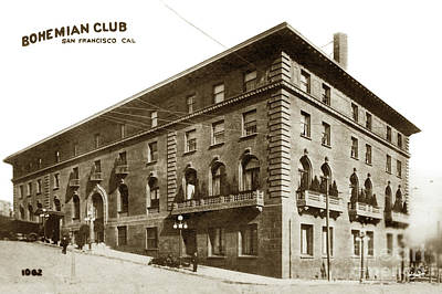 Photograph - Bohemian Club Building, San Francisco Circa 1900 by California Views Mr Pat Hathaway Archives