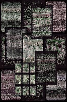 Media Digital Art - Bohemian Combo Boysenberry by Jannina Ortiz