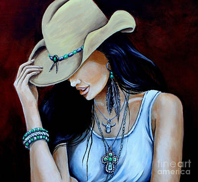 Bohemian Cowgirl Up Close Original by Pechez Sepehri