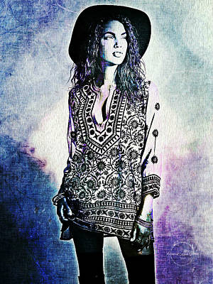 Digital Art - Bohemian Hippie by Absinthe Art By Michelle LeAnn Scott
