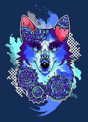 Siberian Husky Digital Art - Bohemian Husky by Jessica Lintner