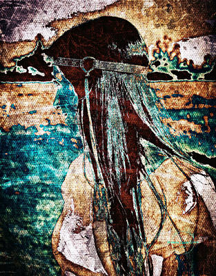 Digital Art - Bohemian Indian Summer by Absinthe Art By Michelle LeAnn Scott
