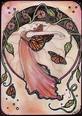 Bohemian Nouveau Fairy Art Print by Renee Lavoie