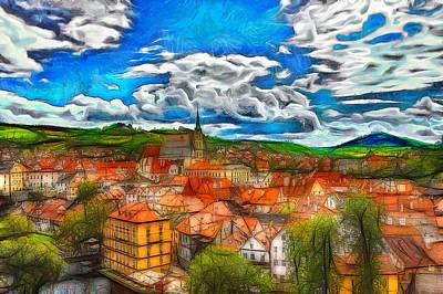 Bohemian Village 2 Art Print by Jean-Marc Lacombe