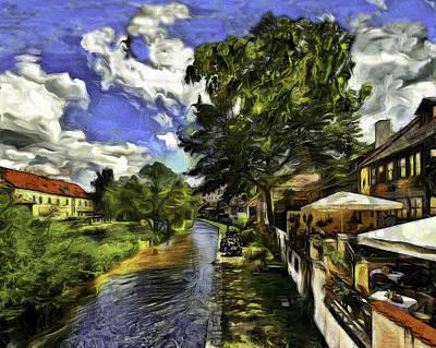 Bohemian Village Art Print by Jean-Marc Lacombe
