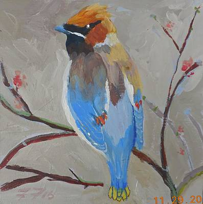 Painting - Bohemian Wax Wing by Francine Frank