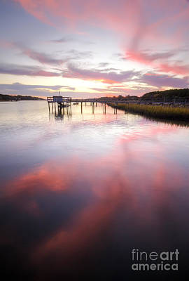 Bohicket Sunset Charleston Lowcountry Art Print