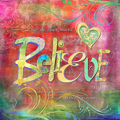 Believe Digital Art - Boho Bellus Swd Believe by Connie Haley