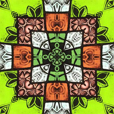 Boho Blocks Art Print