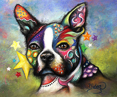 Pastel - Boston Terrier by Patricia Lintner