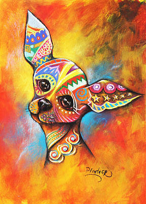Art Print featuring the drawing Chihuahua by Patricia Lintner