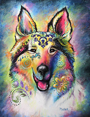 Pastel - Collie by Patricia Lintner