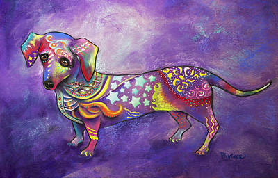 Mixed Media - Dachshund by Patricia Lintner