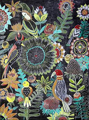 Wall Art - Painting - Boho Floral Garden by Carol Iyer