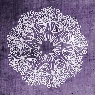Mixed Media - Boho Floral Mandala 2- Art By Linda Woods by Linda Woods