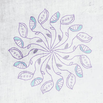 Mixed Media - Boho Floral Mandala 3- Art By Linda Woods by Linda Woods