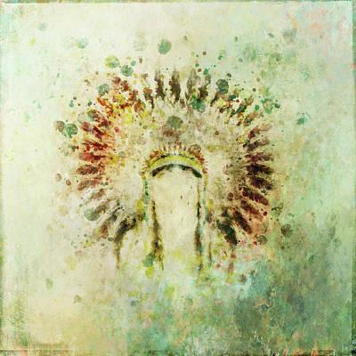 Painting - Boho Headdress by Christina VanGinkel