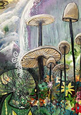 Wall Art - Painting - Boho Shrooms by Carol Iyer