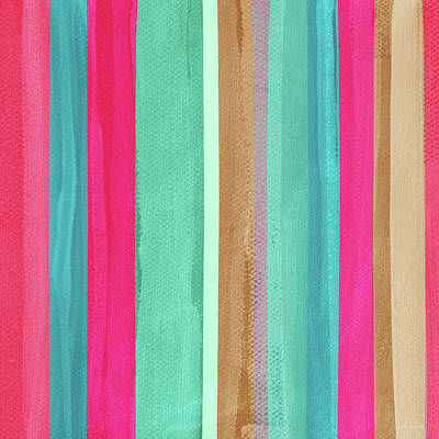 Mixed Media - Boho Stripe- Art By Linda Woods by Linda Woods