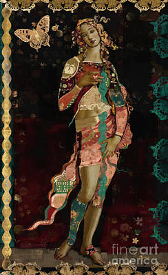 Figures Mixed Media - Boho Venus by Carrie Joy Byrnes