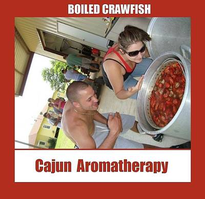 Photograph - Boiled Crawfish Cajun Aromatherapy by Deborah Lacoste