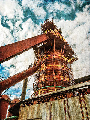 Photograph - Boiler At Sloss Furnaces by Phillip Burrow