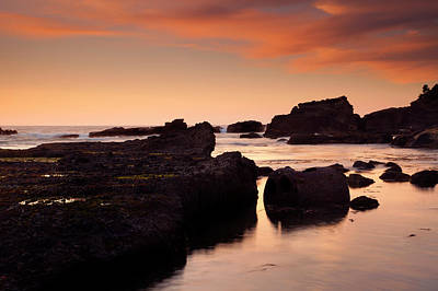 Boiler Bay Sunset Art Print by Mike  Dawson